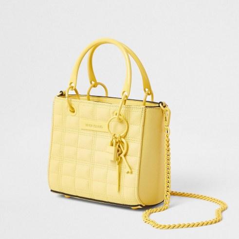 River Island Yellow mini tote cross body bag   small summer top handle bags   crossbody style