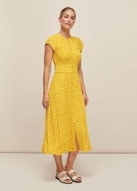 WHISTLES ISLA DANDELION DRESS / yellow summer dresses