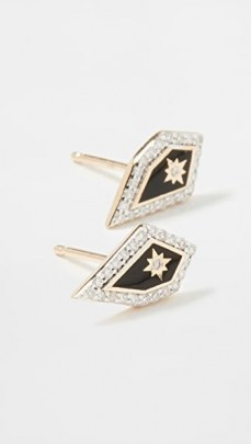 Adina Reyter 14k Mosaic Pave Star Post Earrings ~ diamond studs ~ gold jewellery - flipped