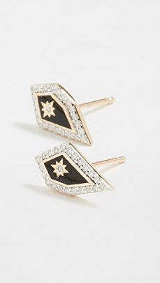 Adina Reyter 14k Mosaic Pave Star Post Earrings ~ diamond studs ~ gold jewellery