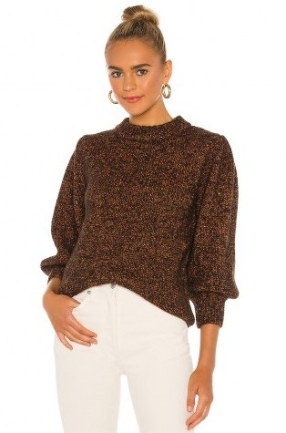 ANINE BING Rosalind Sweater Brown | chunky knits - flipped
