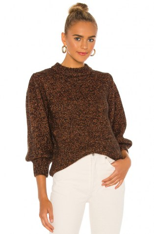 ANINE BING Rosalind Sweater Brown | chunky knits