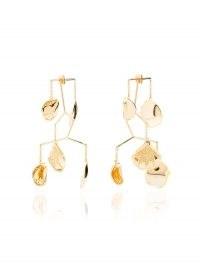 Anissa Kermiche 18kt gold Kinetic Mobile earrings ~ statement tiered drops