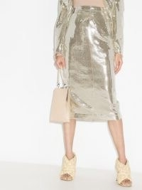 ANOUKI disco ball midi pencil skirt / glittering silver skirts ❤️