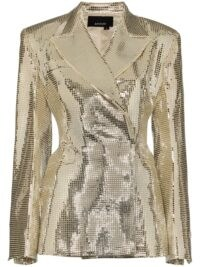 ANOUKI silver double-breasted disco blazer / shimmering jackets ❤️
