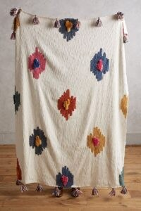 Anthropologie Dal Throw ~ tasseled bohemian throws ~ textured fabrics ~ boho soft furnishings