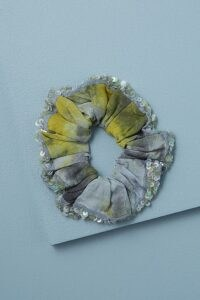Deepa Maura Tie-Dye Scrunchie YELLOW | sequinned scrunchies
