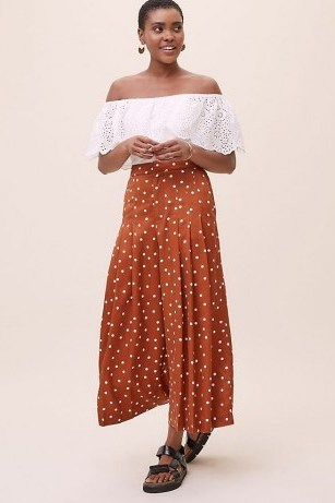 Anthropologie Casandra Broderie Top in White ~ lace off the shoulder tops - flipped