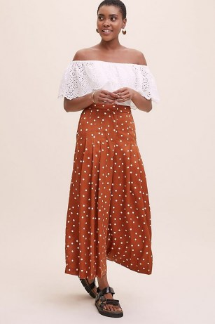 Anthropologie Casandra Broderie Top in White ~ lace off the shoulder tops