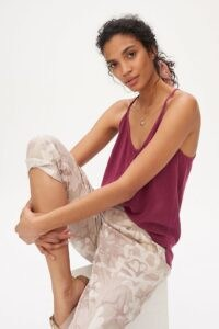 Anthropologie Jenny Button Cami Wine ~ loungewear camisoles