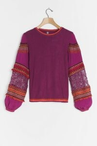 Bl-nk Emeryl Lace Jumper Purple Motif