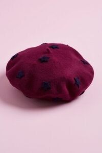 Helene Berman Star Beret Dark Purple / autumn hats / berets / fall colours / winter accessories