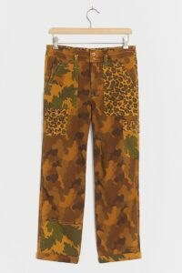 ANTHROPOLOGIE Wanderer Utility Trousers BRONZE – mixed print pants
