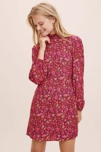 Anthropologie Molly Tunic Dress in Pink | retro dresses | vintage style floral prints