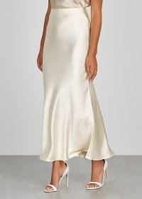 BEC & BRIDGE Mireille ivory satin skirt ~ slinky skirts