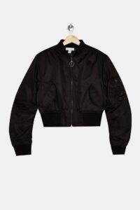 Topshop Black Bomber Jacket | classic casuals