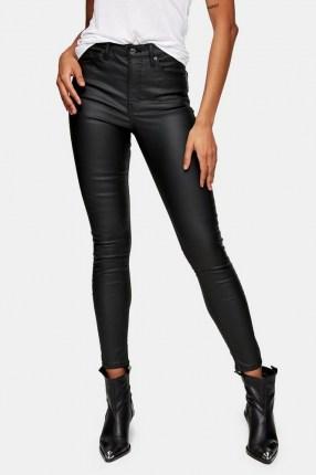 Topshop Black Coated Jamie Skinny Jeans   skinnies with sheen