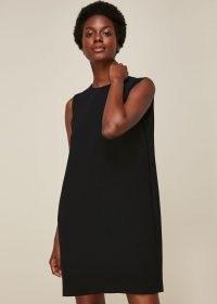 WHISTLES COCOON CREPE DRESS / LBD / sleeveless shift dresses / effortless evening style
