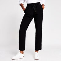 RIVER ISLAND Black Crepe Jogger ~ smart joggers ~ luxe style jogging bottoms