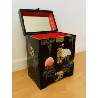 Hand-painted in cranes artistry jewellery box by Bloomsbury Market