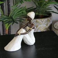 Sitting African Woman Fostoria Figurine by Bloomsbury Market – stylish ornaments for your home