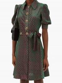 BATSHEVA Checked devoré-velvet mini dress – vintage style dresses