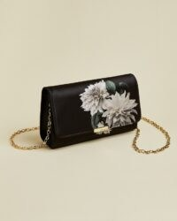 TED BAKER PARYA Clove evening bag / floral chain strap bags