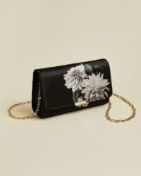 TED BAKER PARYA Clove evening bag – floal chain strap bags