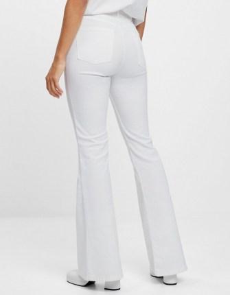Bershka Flared jeans White | denim flares - flipped