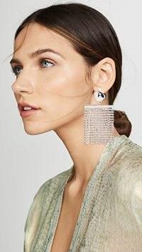 Cult Gaia Farah Rhinestone Earrings / glamorous jewellery / fringed statement drops / evening glamour