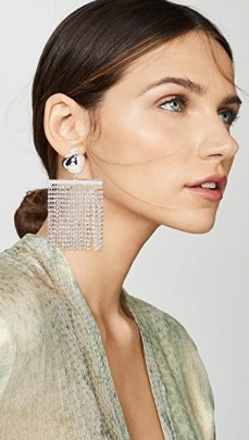 Cult Gaia Farah Rhinestone Earrings / glamorous jewellery / fringed statement drops / evening glamour - flipped