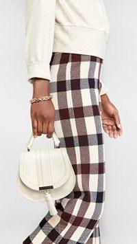 DeMellier Nano Venice Crossbody Ivory Lizzard ~ animal embossed bags ~ small tassel detail handbag
