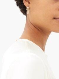 YVONNE LÉON Diamond & 18kt gold jellyfish earrings / ocean inspired jewellery