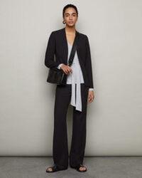 JIGSAW DORNEY CREPE FITTED JACKET BLACK / smart jackets