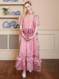 SISTER JANE Sugar Fete Ruffle Maxi Dress ~ pink vintage style dresses
