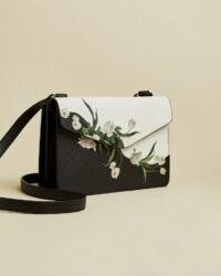 TED BAKER FARZANE Elderflower cross body bag in black / floral crossbody bags