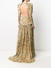 Etro floral-print open back gown