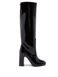FABRIZIO VITI Farrah knee-high patent-leather boots in black / high shine winter footwear