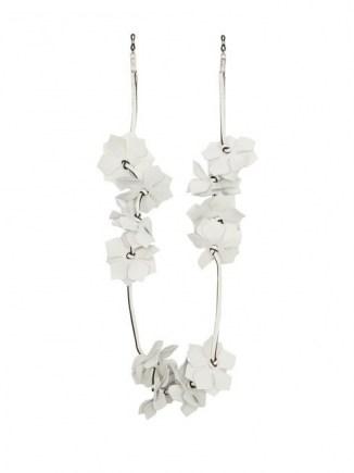 LOEWE PAULA'S IBIZA Floral white leather glasses strap ~ eyewear accessories - flipped