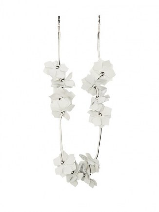 LOEWE PAULA'S IBIZA Floral white leather glasses strap ~ eyewear accessories
