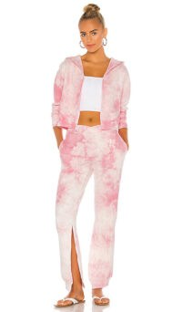 Frankies Bikinis Ranger Sweatpant in Heavenly ~ pink slit leg sweatpants