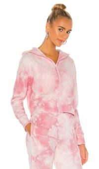 Frankies Bikinis Ranger Sweatshirt ~ pink zip front sweat top ~ zipped sweatshirts