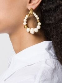 Gas Bijoux Biba beaded earrings / drop hoops