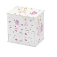 Beatrice Princess and Castle Chest Style Musical Jewellery Box by Harriet Bee