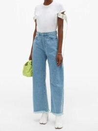 MARQUES'ALMEIDA High-rise wide-leg jeans | fringed hems