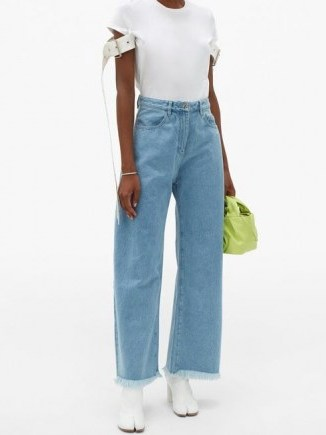 MARQUES'ALMEIDA High-rise wide-leg jeans   fringed hems - flipped