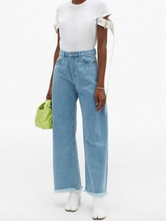 MARQUES'ALMEIDA High-rise wide-leg jeans   fringed hems