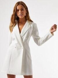 MISS SELFRIDGE Ivory Tuxedo Dress – blazer dresses