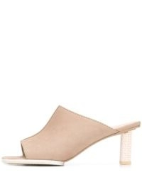 Jacquemus Carino 70mm square-toe mules / beige square open toe mule