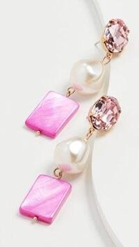 Jennifer Behr Spade Earrings Fuchsia ~ long pink beaded drops ~ statement jewellery